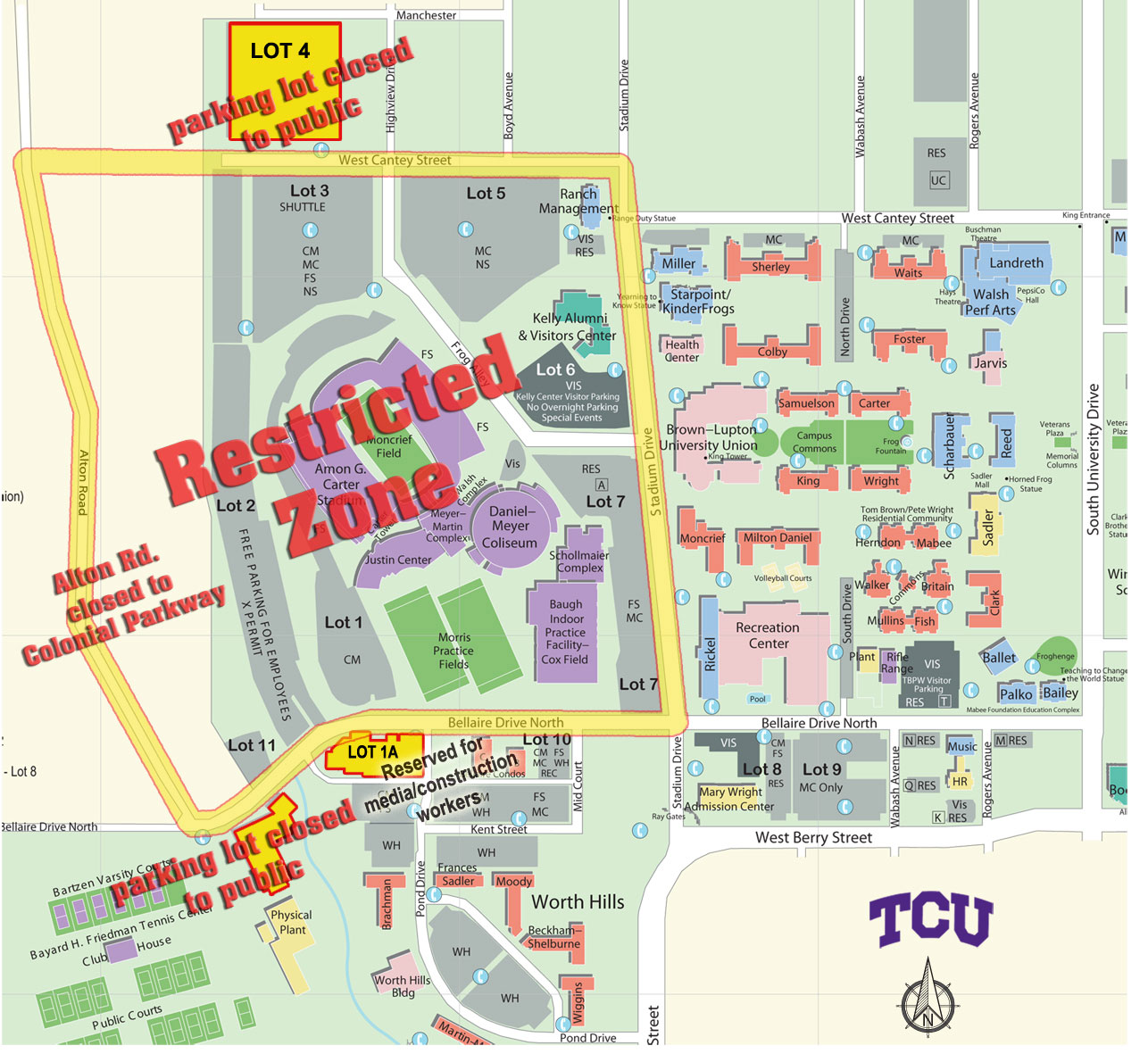 Tcu campus map texas christian university news and events